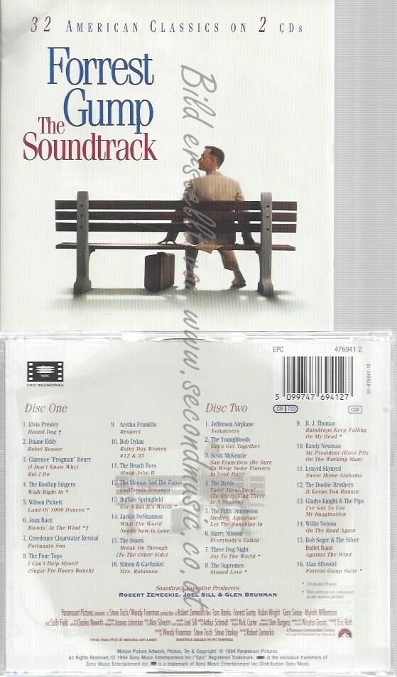 CD–ORIGINAL SOUNDTRACK UND VARIOUS — —-THE SOUNDTRACK-FORREST GUMP