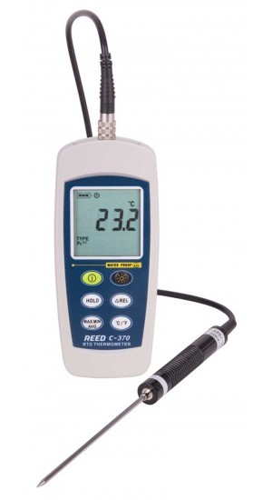 C-370 - RTD Thermometer, -148 to 572°F (-100 to 300°C), wasserdicht (IP67)